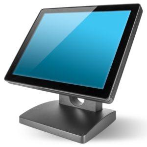 Kassendisplay - Kassenhardware 15 Zoll Bildschrim in grau-schwarz für das Kassensystem