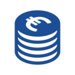 Euro-Stapel icon, täglich verbuchte Euros mit GastoSoft und PosSoft