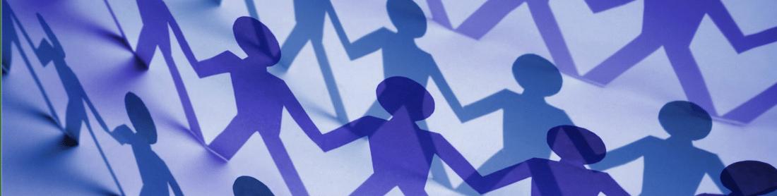 Personen Icons mit Schatten die sich die Hände reichen für die Filial Add-On Erweiterung der Kassensoftware