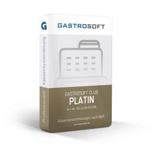 Verpackung GastroSoft Club, Kassensystemlösungen - Club Platin