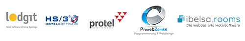 Hotel Schnittschnell Partner Logos von GastoSoft