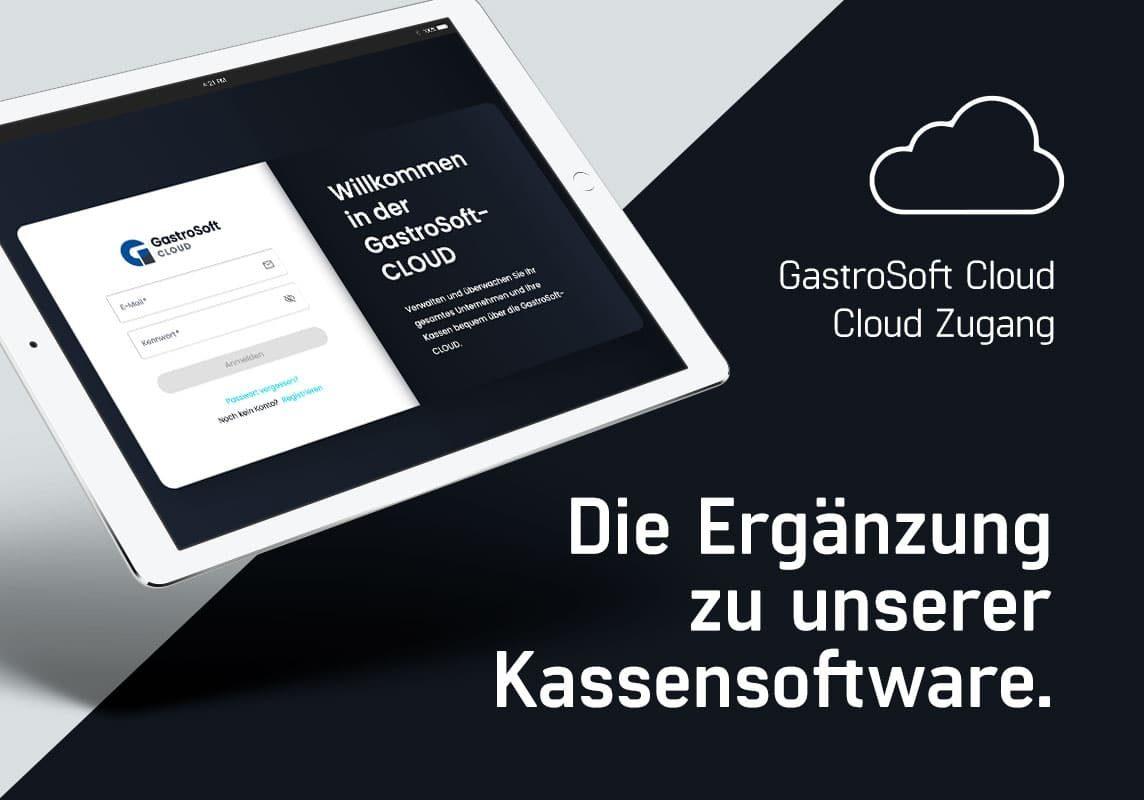 Anmeldemaske der neuen GastroSoft-Cloud, das Cloud Kassensystem von GastroSoft
