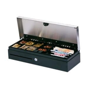 Kassensystem Hardware - Kassenladen in schwarz mit Geld in der Kassenkassette