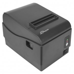 Schwarzer WLAN Thermodrucker - Kassendrucker in der Kassenhardware des Kassensystems
